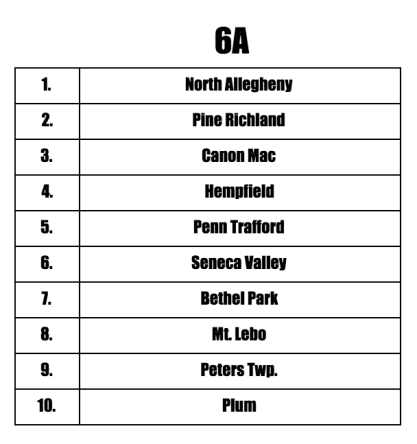 6A Preseason Teams